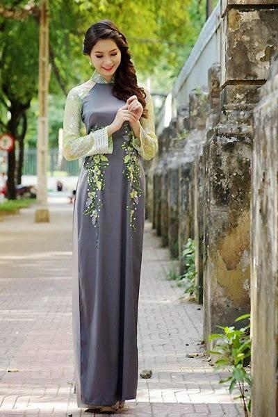 Ảnh gái đẹp diệu dàng trong tà áo dài 13