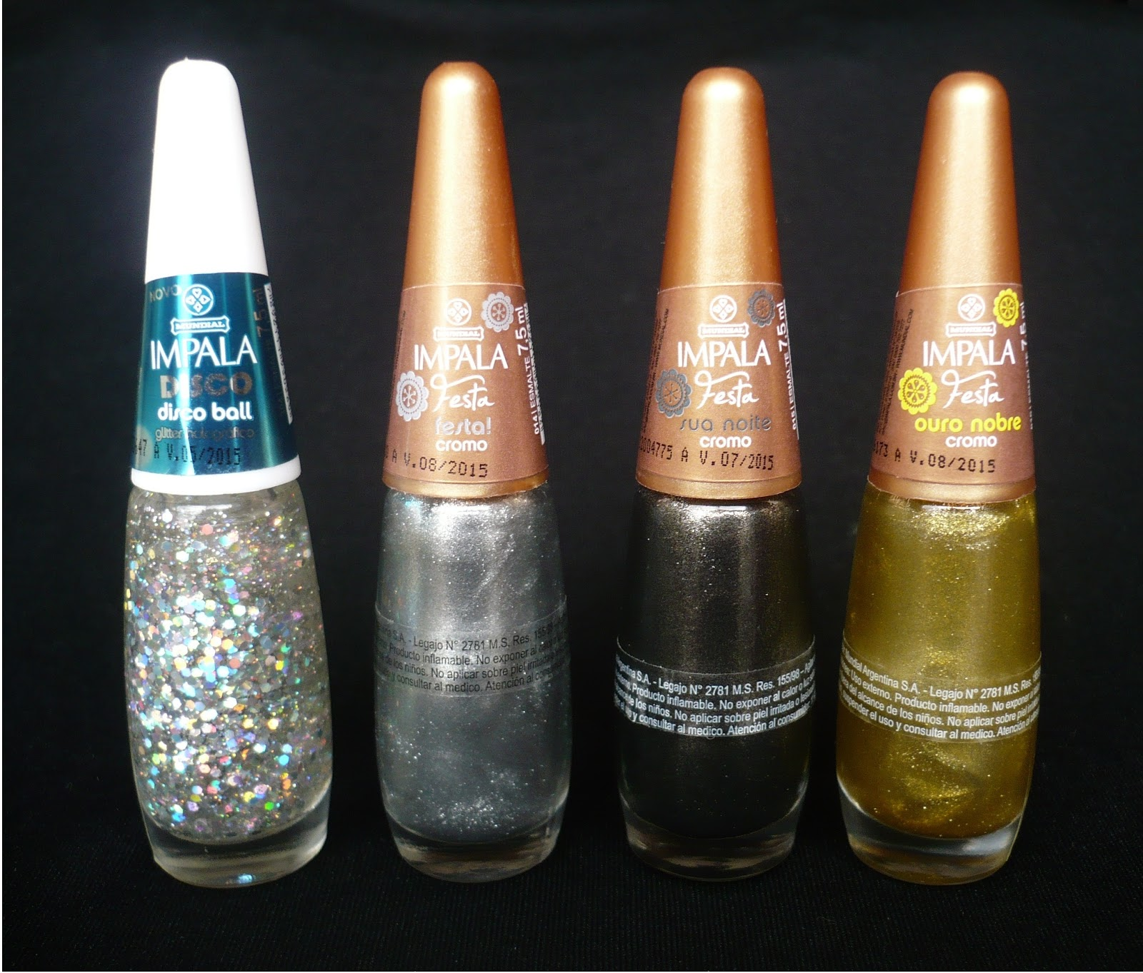 Impala, Disco Ball, Festa!, Cromo, Ouro Nobre, opiniones swatch review