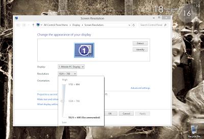 Cara Menambah Resolusi Windows 8 di Netbook atau Notebook
