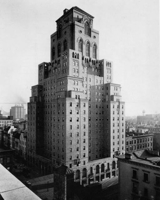 The Barbizon Hotel for Women in 1927 -- photo Library of Congress