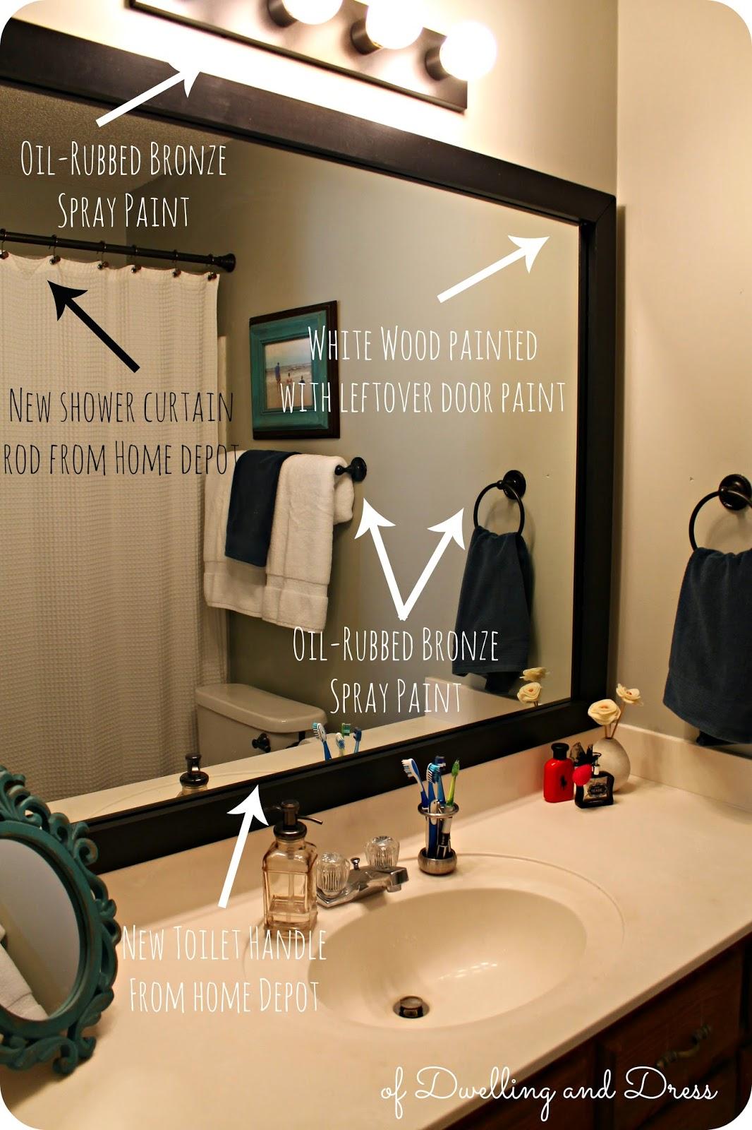 Of dwelling and dress home tour master bathroom rox 39 s for Megan u bathroom tour