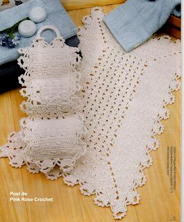 Tapetes de crochê com fio fino