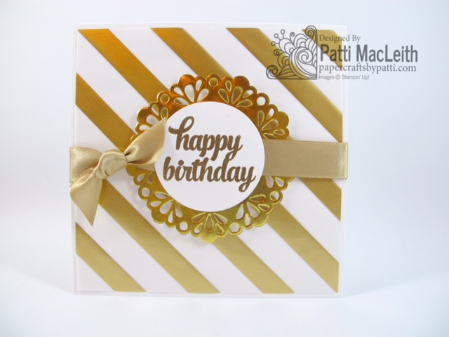 Papercrafts By Patti Golden Birthday Card For Ppa268