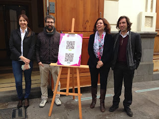 María José Castañeda, Tomás López-Perea y Carlos Arocha presentan 'Cultura La Laguna' aplicación que recoge todos los actos de la agenda cultural de la ciudad