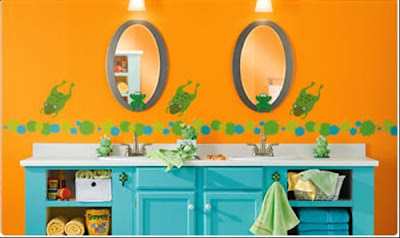 Enjoying and Relaxing Modern Young Kid's Bathroom Decorating Ideas