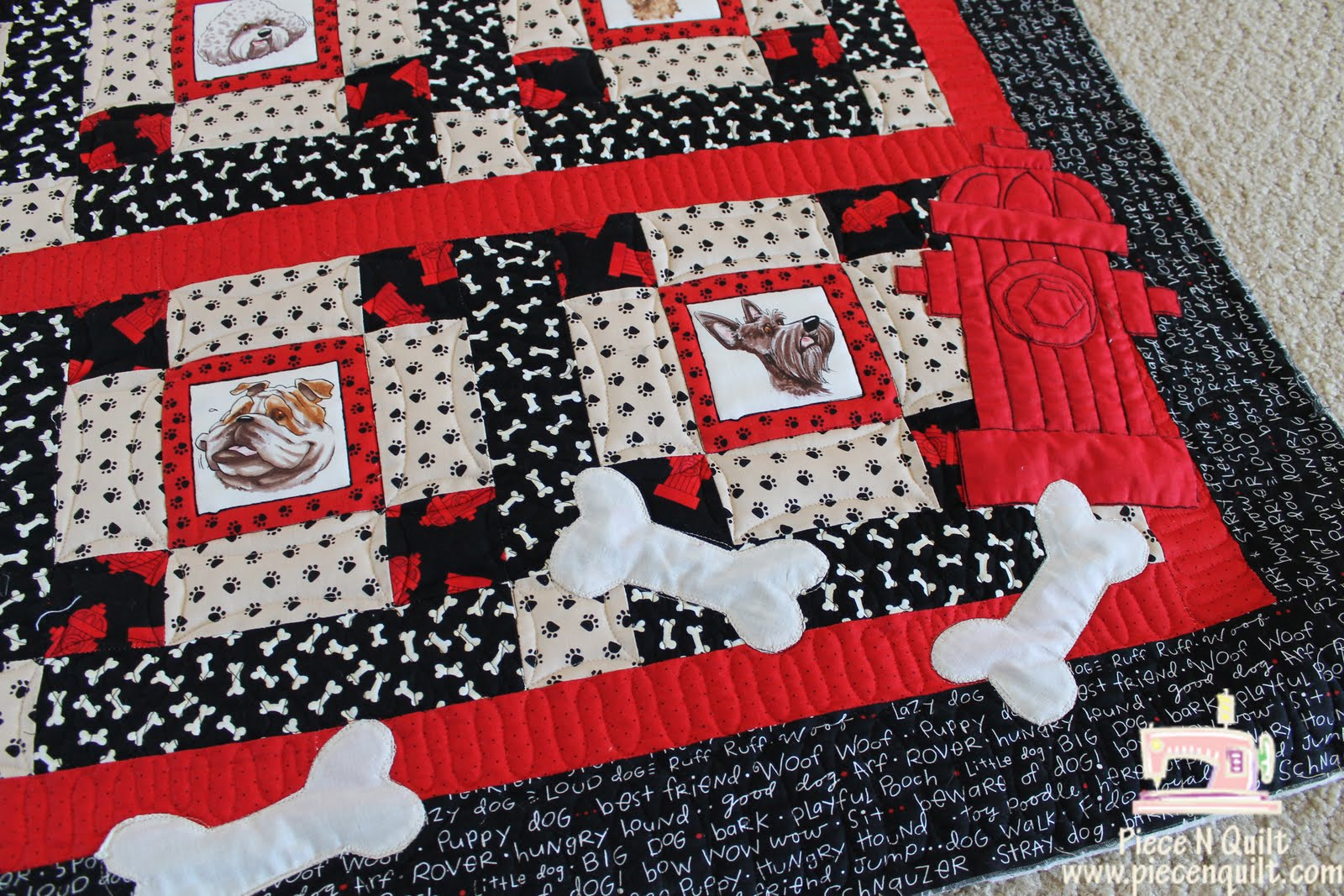 Piece N Quilt I Kidnapped My Sisters Dog Machine Quilting