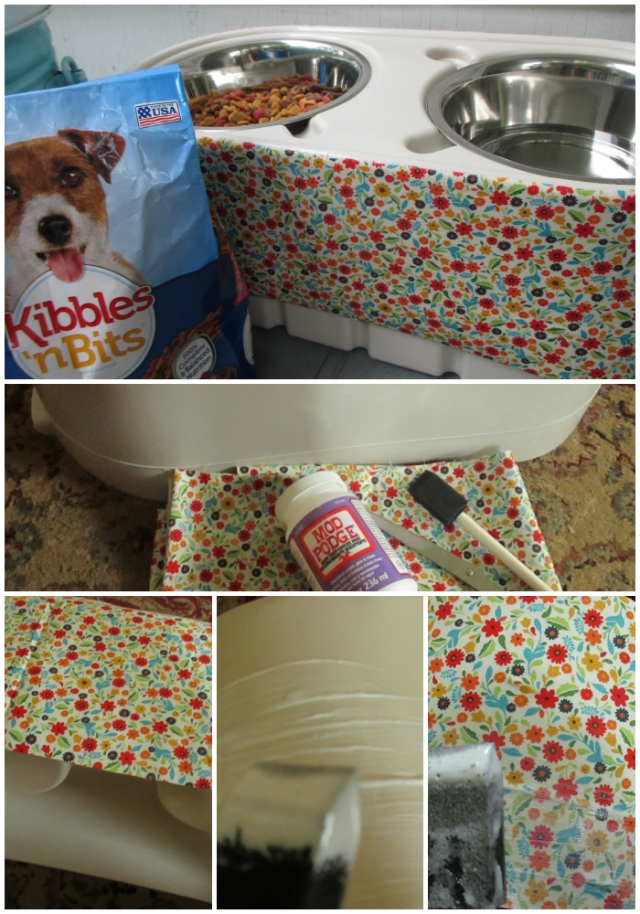 Simple DIY Shabby Chic Dog Feeding Station Makeover #DogOwnersKnow One Savvy Mom Blog onesavvymom NYC Kibbles n Bits