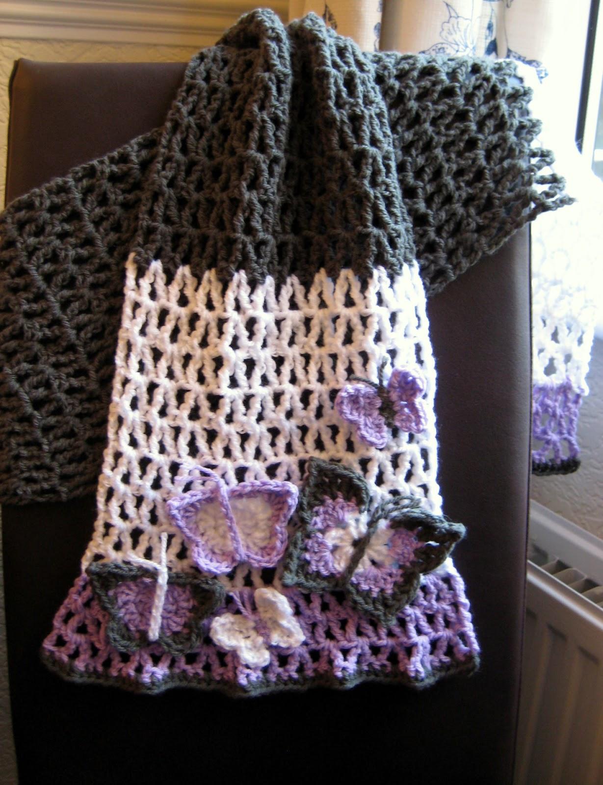 Crochet Butterfly Shawl Free Pattern : ergahandmade: Crochet Butterfly Scarf + Crochet ...