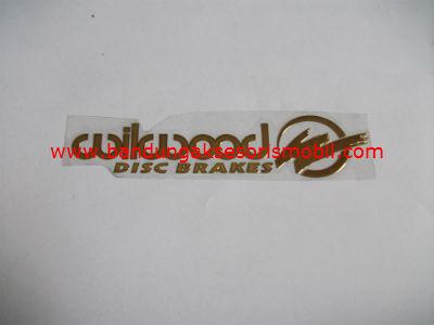 Emblem Alumunium Besar Gold Will Wood