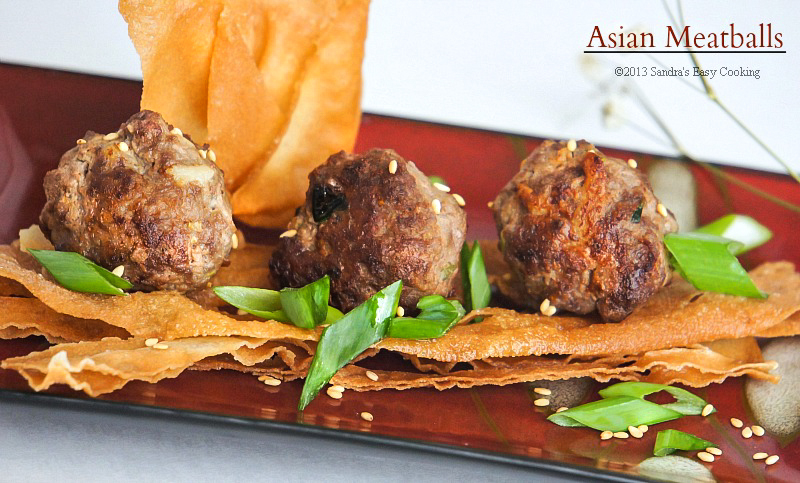 Perfect balance of flavor Asian Meatballs 