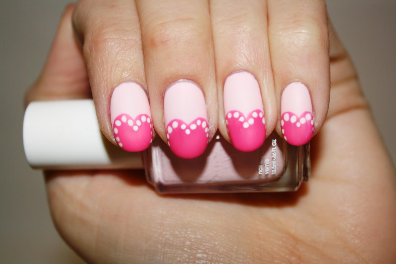 Маникюр розовый малиновый фото