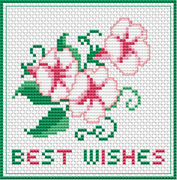 Best Wishes Free Cross Stitch Pattern