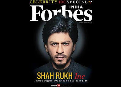Shah Rukh Khan on the Cover page of Forbes