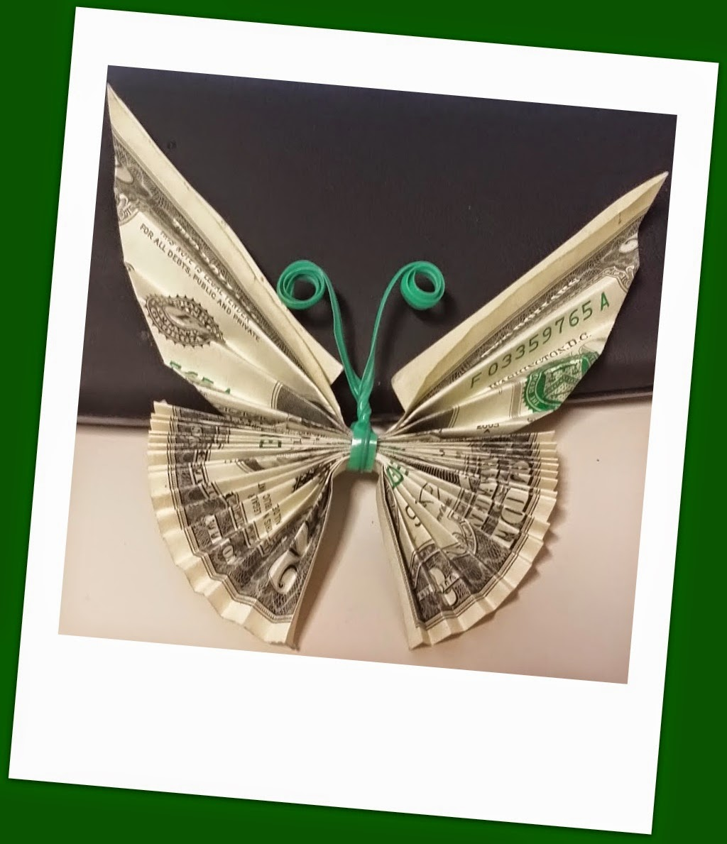 Will Fold For Paper!: Twist Tie Dollar Butterfly (designed ... - photo#26