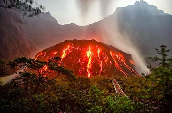 Kubah lava Gunung Kelud