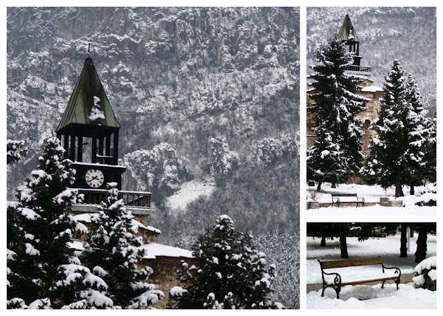 beautiful winter images from the clock tower in Vratsa