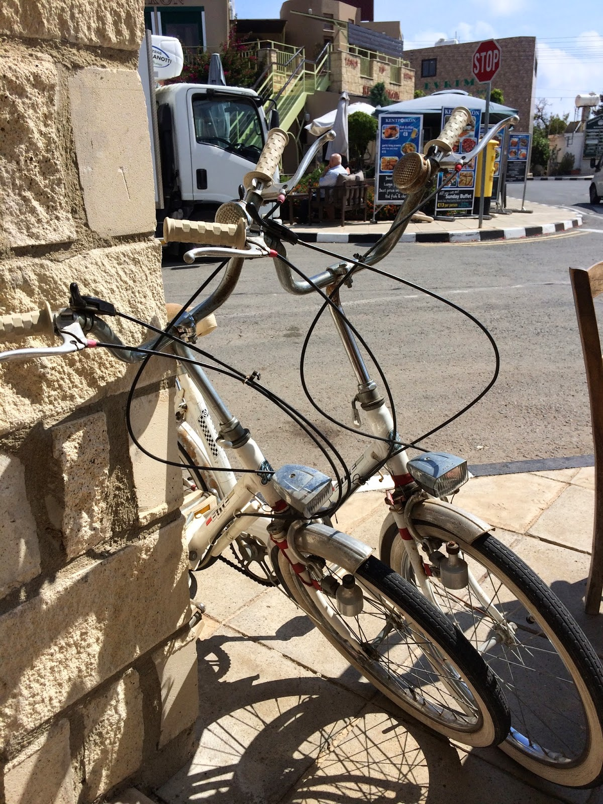 bicycles at Yiannis Klimataria Tavern, Mandria, Cyprus