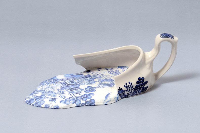 Esculturas de porcelana derretidas por Livia Marín