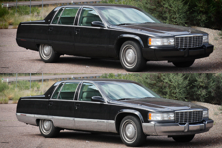 My 1996 Cadillac Fleetwood: Painted Chrome Rocker Panels