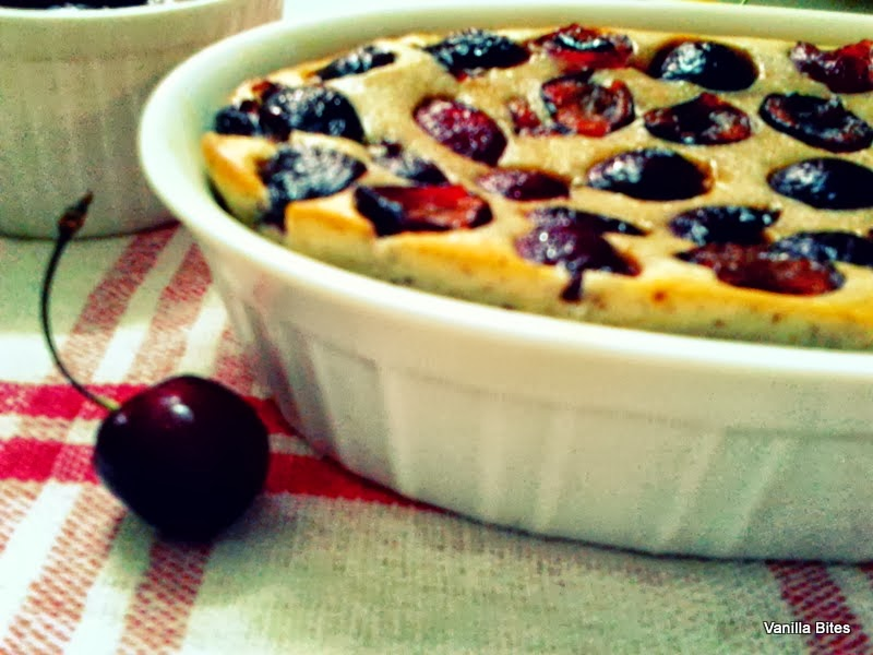 Almond Cherry Clafoutis