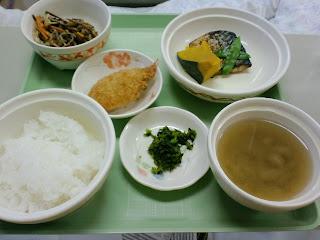 写真:パルス入院3クール4日目の夕食
