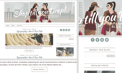 chic blogspot blog theme - template for fashionistas and shopping lovers