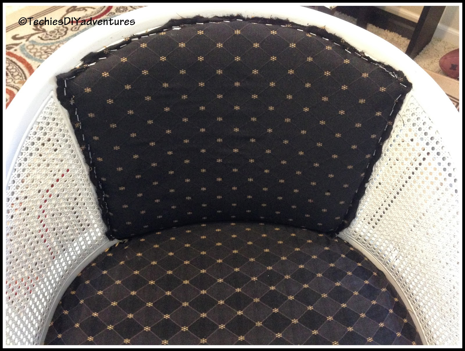 Cover The Staples With The Decorative Trim.I Used Hot Glue To Adhere The  Trim To The Chair. I Was Lucky To Find The Exact Same Trim That I Have Used  On ...