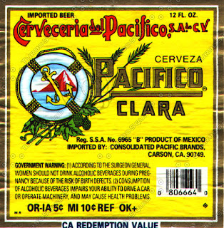 Cerveza Pacifico Clara bottle label