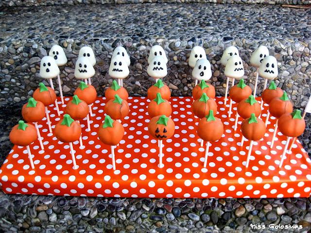 Halloween Cake Pops, Kürbis, Karamell-Orange, Oktober, Geist