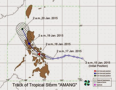 'Amang' Forecast Positions