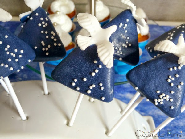 sweet table colombe origami cake pops