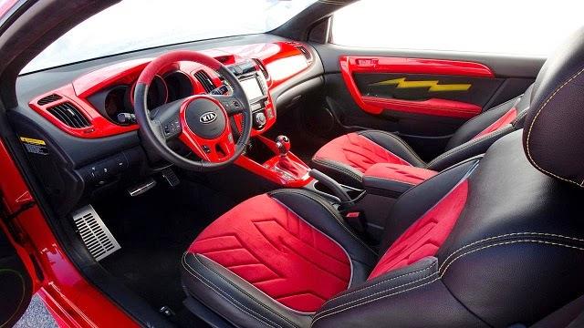 Car Reviews 2015 Kia Forte Designe interior red
