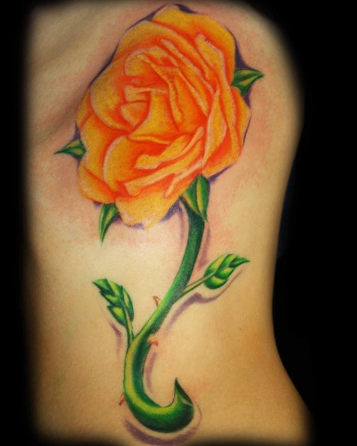 1887Tattoos: Yellow Rose Tattoos Yellow Rose With Butterfly Tattoo