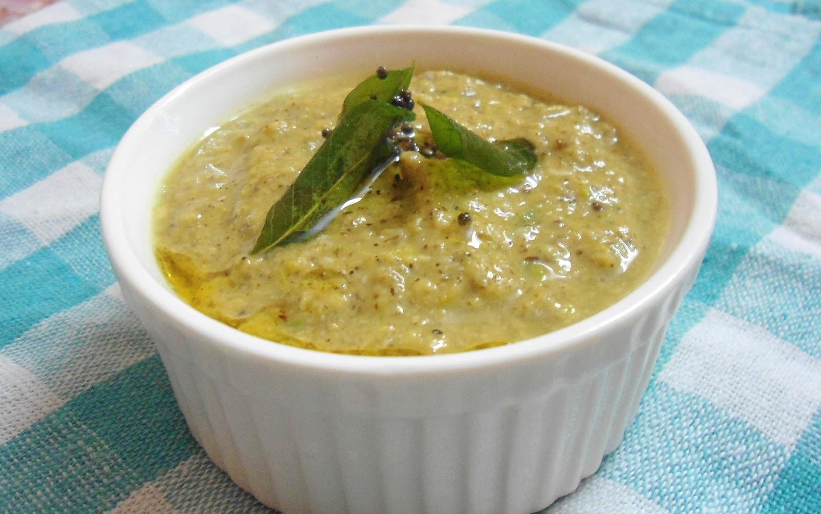Babi 's Recipes: Green Tomato Chutney | Pachha Thakalai Chutney | Side ...