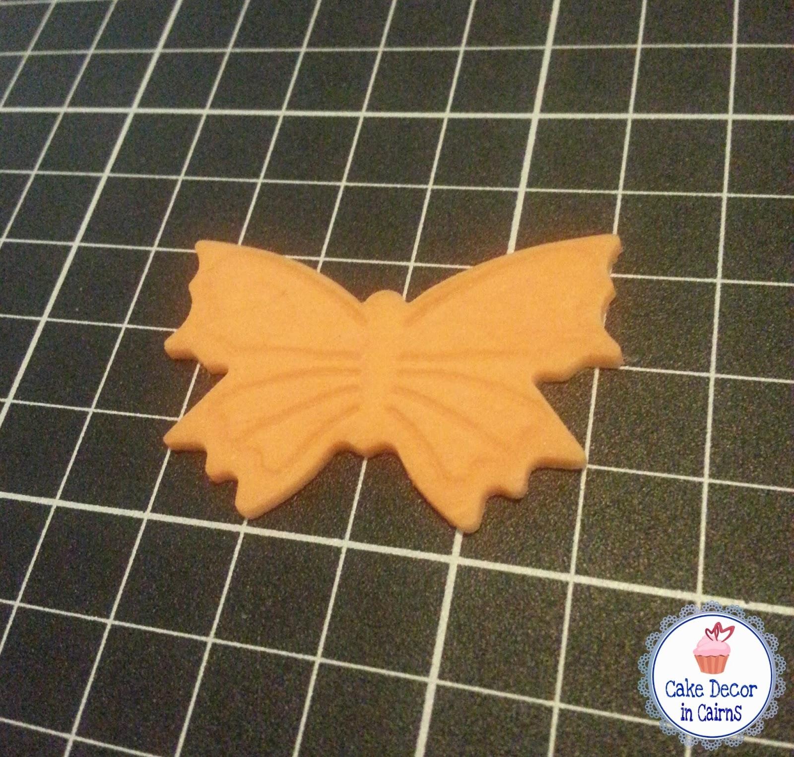 Orange Fondant Butterfly