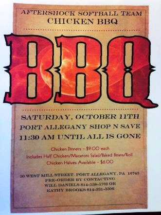10-11 Chicken BBQ- Port Allegany