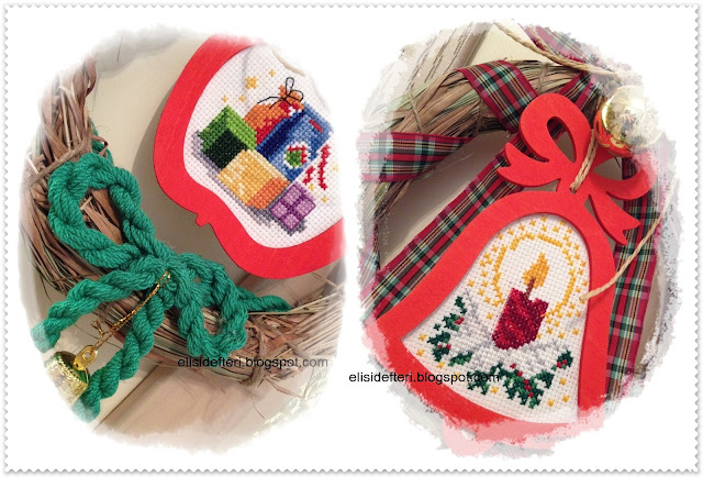 cross stitch christmas wreath
