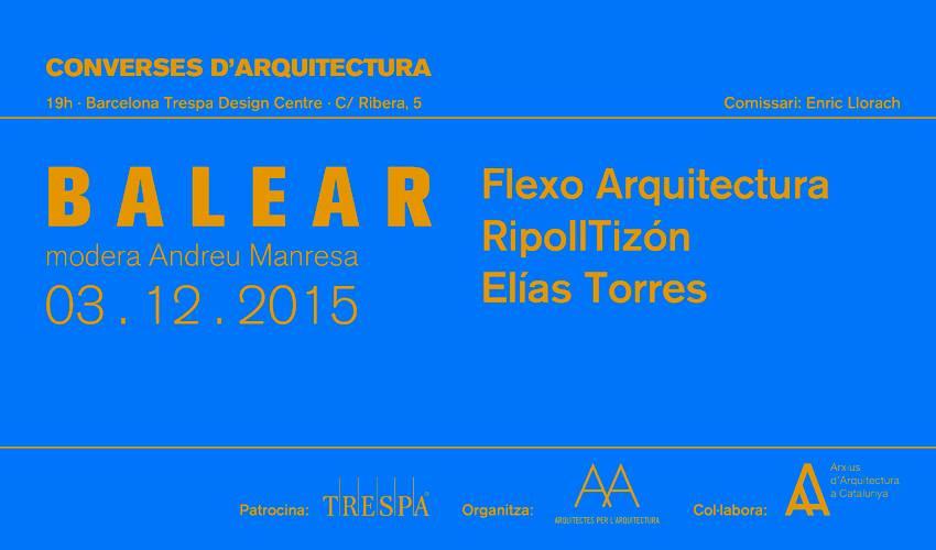 Arquitectures234 converses a barcelona flexo - Flexo arquitectura ...