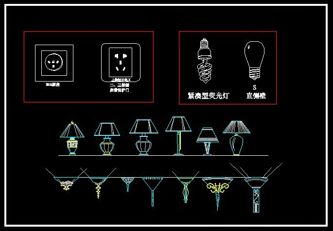 Wall Lantern Cad Block : CAD Drawings Free Download: Lighting Symbols - CAD Drawings Download
