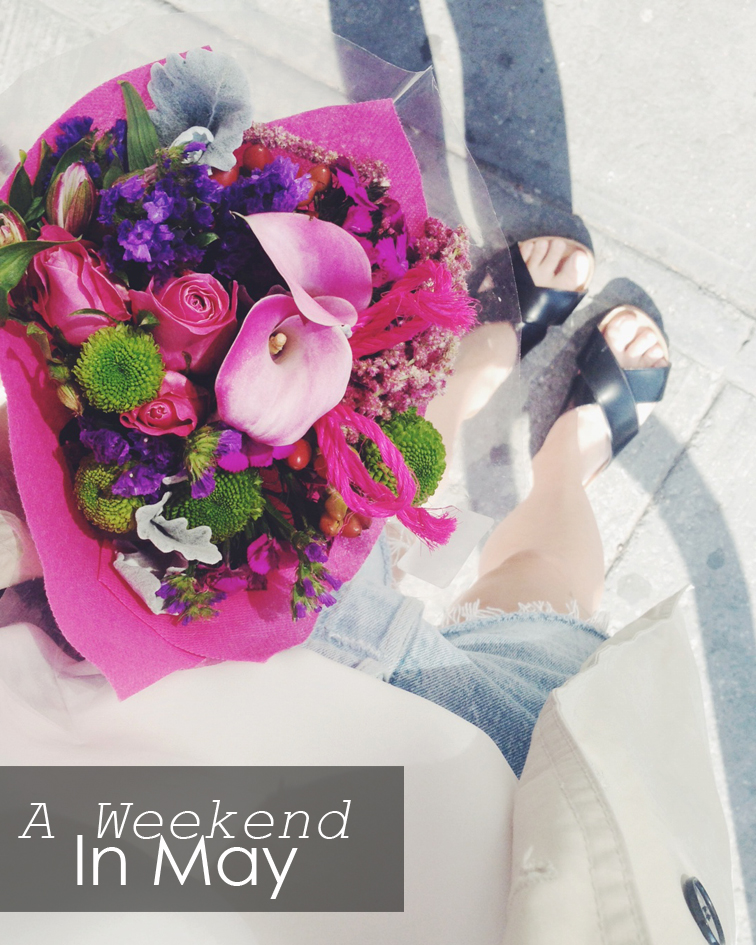 A weekend in May, Fashion Over Reason springtime pink bouquet