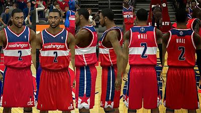 NBA 2K14 Washington Wizards Jersey Mods