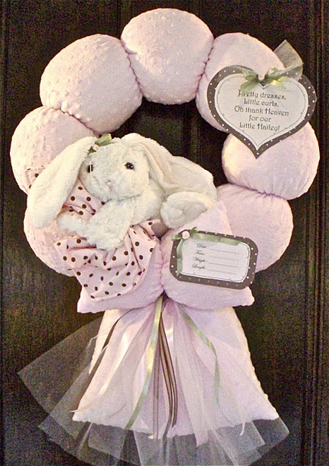 48. Pink Floppy Earred Bunny Wreath