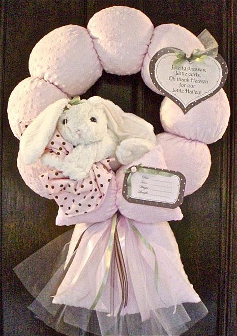 48. Pink Floppy Earred Bunny Wreath