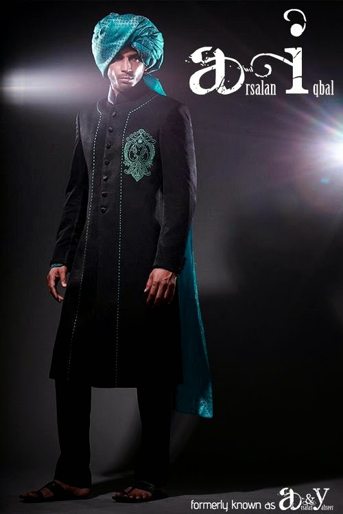 Arsalan Iqbal Dulha Sherwani Collection