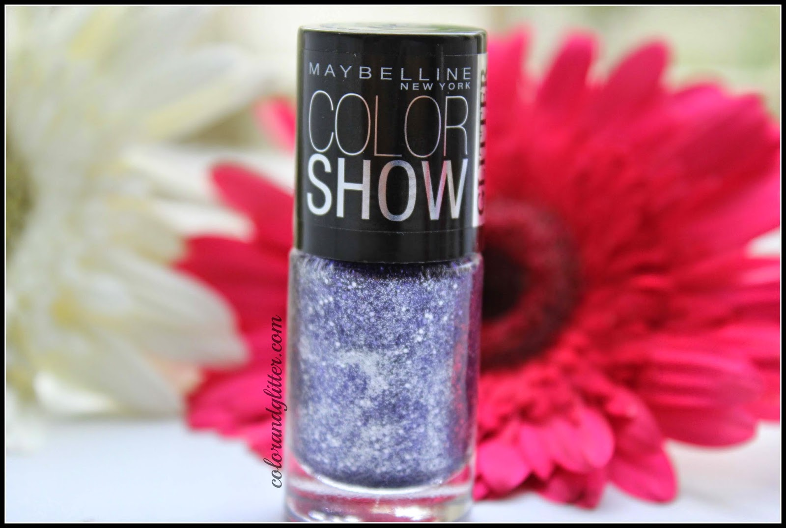 Maybelline Color Show Glitter Mania Nail Polish in Paparazzi Purple || Review and Swatches