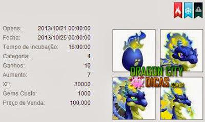 Dragão Fogo Azul - Informações