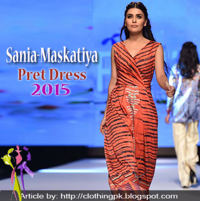 Sania Maskatiya Latest Pret Dress Collection 2015 at TFPW
