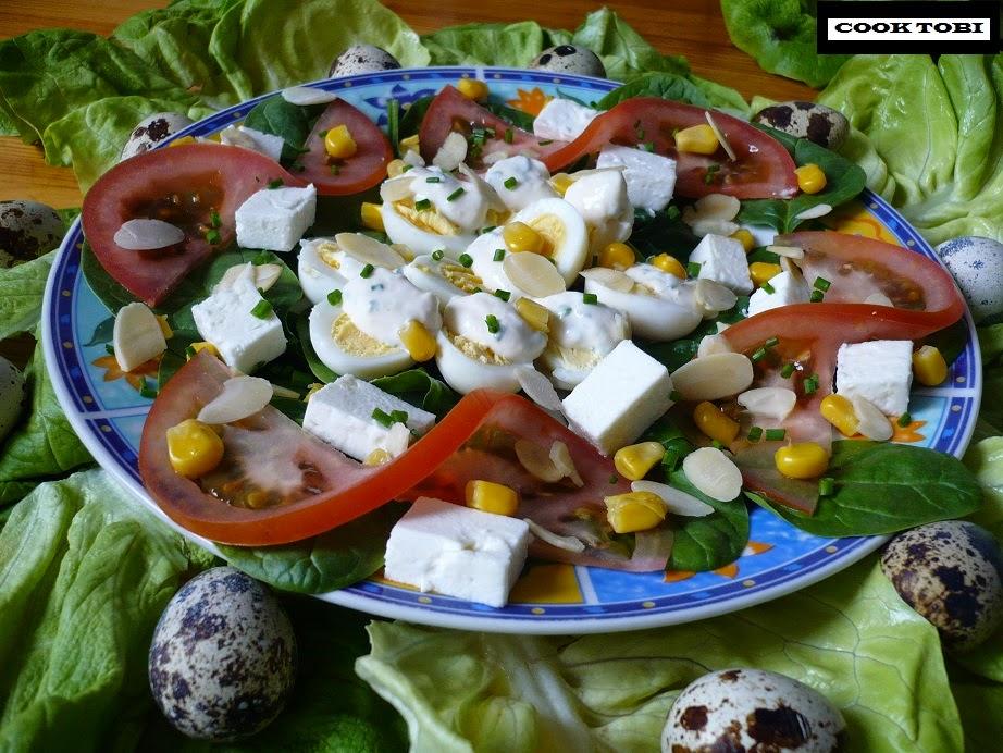 Kuchnia Prozdrowotna Swiateczna Salatka Z Przepiorczymi Jajkami