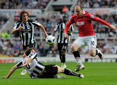Wayne Rooney Manchester United vs Newcastle United Barclays Premier League