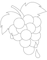 Grapes In Bucket Coloring Pages
